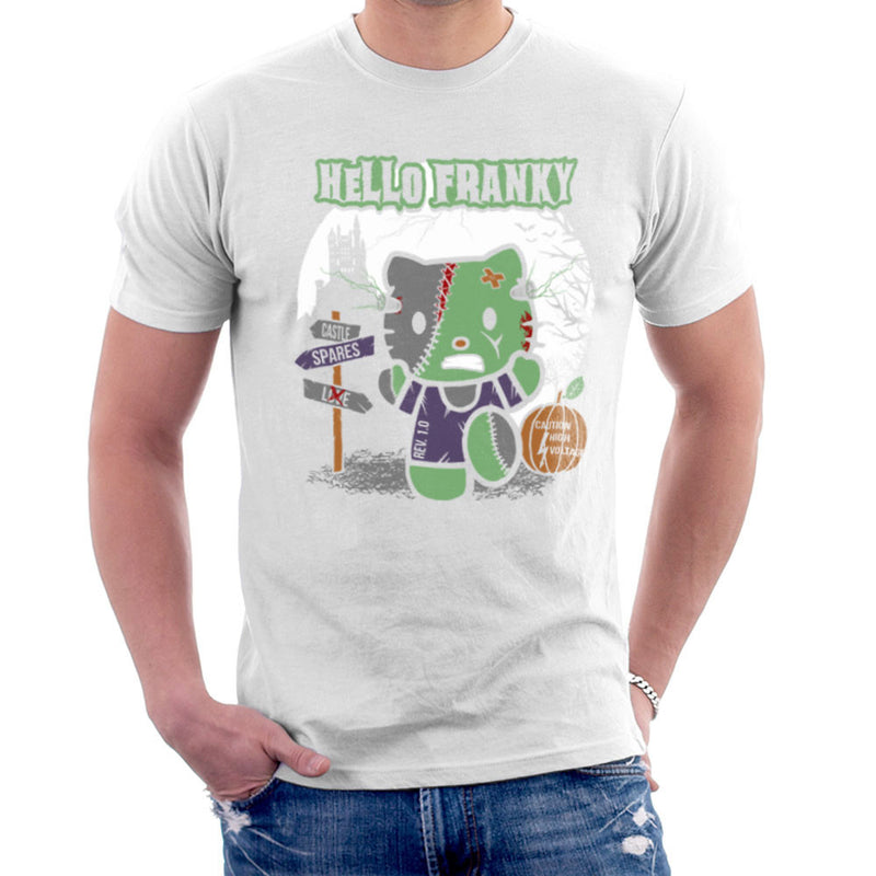 Hello Franky Kitty Frankenstein Men's T-Shirt by Kempo24 - Cloud City 7