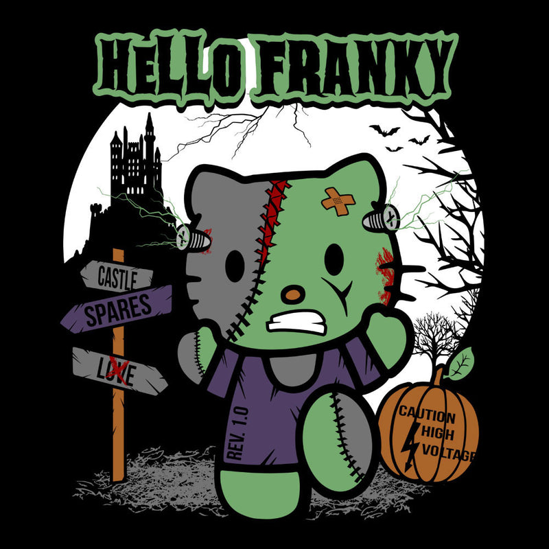 Hello Franky Kitty Frankenstein Men's Vest by Kempo24 - Cloud City 7