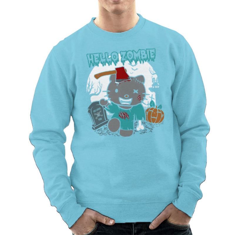Hello Zombie Kitty Men's Sweatshirt by Kempo24 - Cloud City 7
