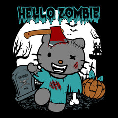 Hello Zombie Kitty Women's Hooded Sweatshirt Women's Hooded Sweatshirt Cloud City 7 - 3