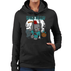 Hello Zombie Kitty Women's Hooded Sweatshirt Women's Hooded Sweatshirt Cloud City 7 - 2