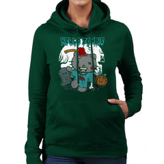 Hello Zombie Kitty Women's Hooded Sweatshirt Women's Hooded Sweatshirt Cloud City 7 - 13