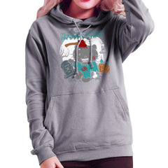 Hello Zombie Kitty Women's Hooded Sweatshirt Women's Hooded Sweatshirt Cloud City 7 - 5