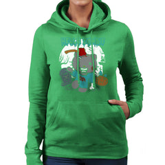 Hello Zombie Kitty Women's Hooded Sweatshirt Women's Hooded Sweatshirt Cloud City 7 - 14