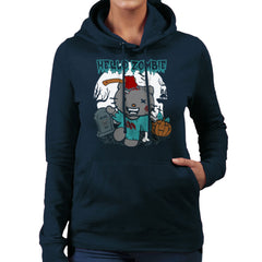 Hello Zombie Kitty Women's Hooded Sweatshirt Women's Hooded Sweatshirt Cloud City 7 - 7
