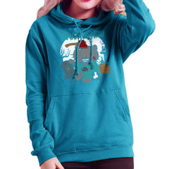 Hello Zombie Kitty Women's Hooded Sweatshirt Women's Hooded Sweatshirt Cloud City 7 - 10