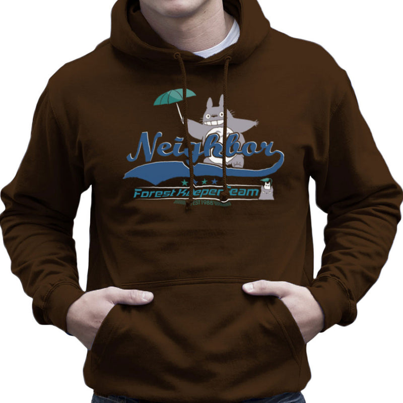 Team Neighbor Totro Forest Keeper Men's Hooded Sweatshirt by Kempo24 - Cloud City 7