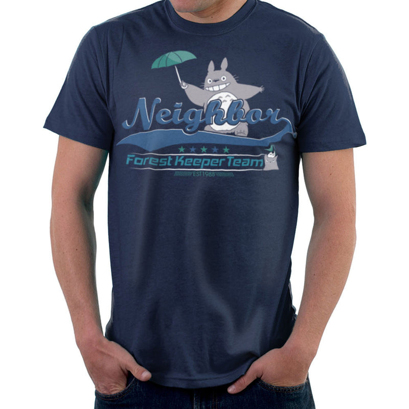 Team Neighbor Totro Forest Keeper Men's T-Shirt by Kempo24 - Cloud City 7