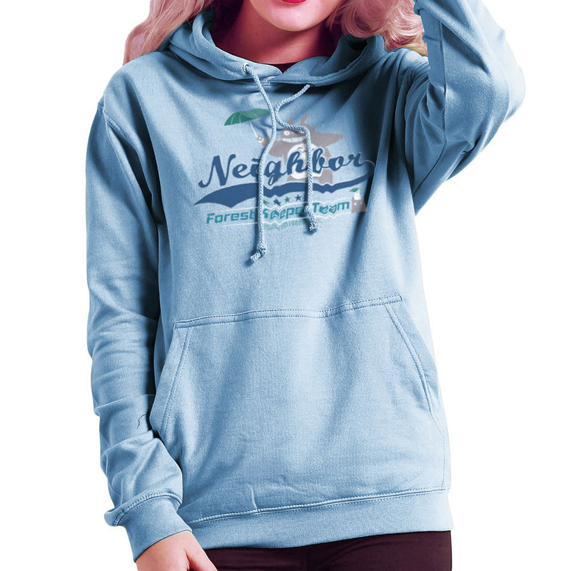 Team Neighbor Totro Forest Keeper Women's Hooded Sweatshirt by Kempo24 - Cloud City 7