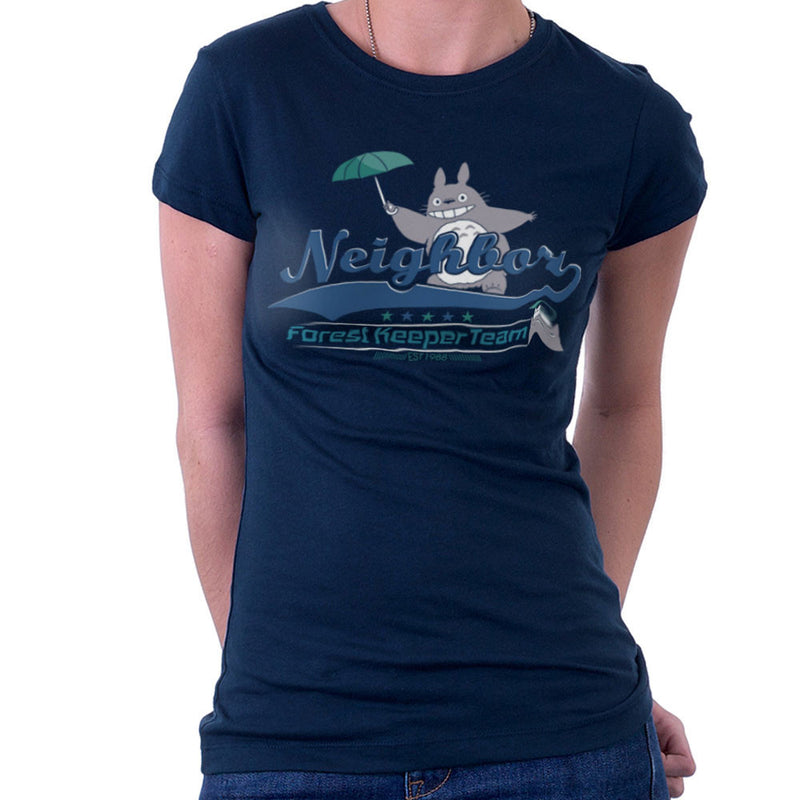Team Neighbor Totro Forest Keeper Women's T-Shirt by Kempo24 - Cloud City 7