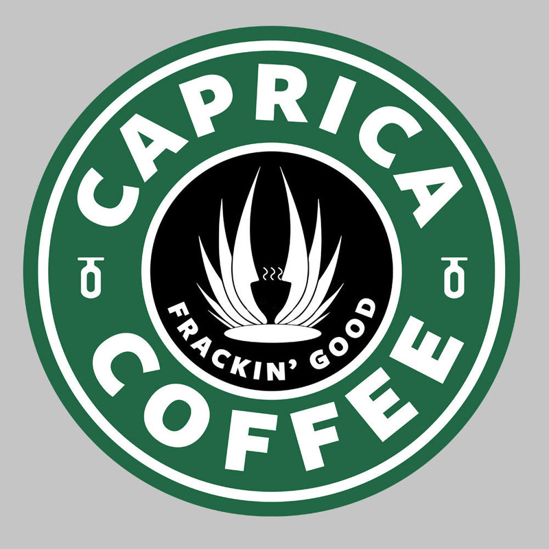 Caprica Coffee Frackin Good Battlestar Galactica Starbucks Men's Vest by Pheasant Omelette - Cloud City 7