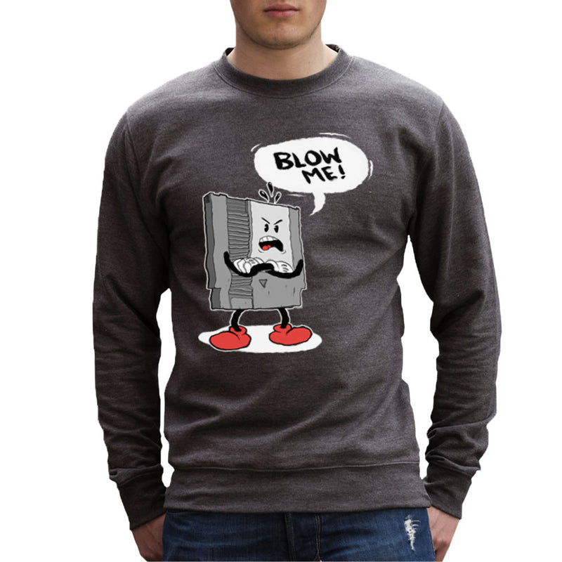 NES Cartridge Blow Me Nintendo Men's Sweatshirt Men's Sweatshirt Cloud City 7 - 4