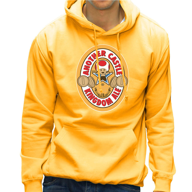 Another Castle Kingdom Ale Newcastle Brown Mario Toad Men's Hooded Sweatshirt by Bryan SilverBaX - Cloud City 7