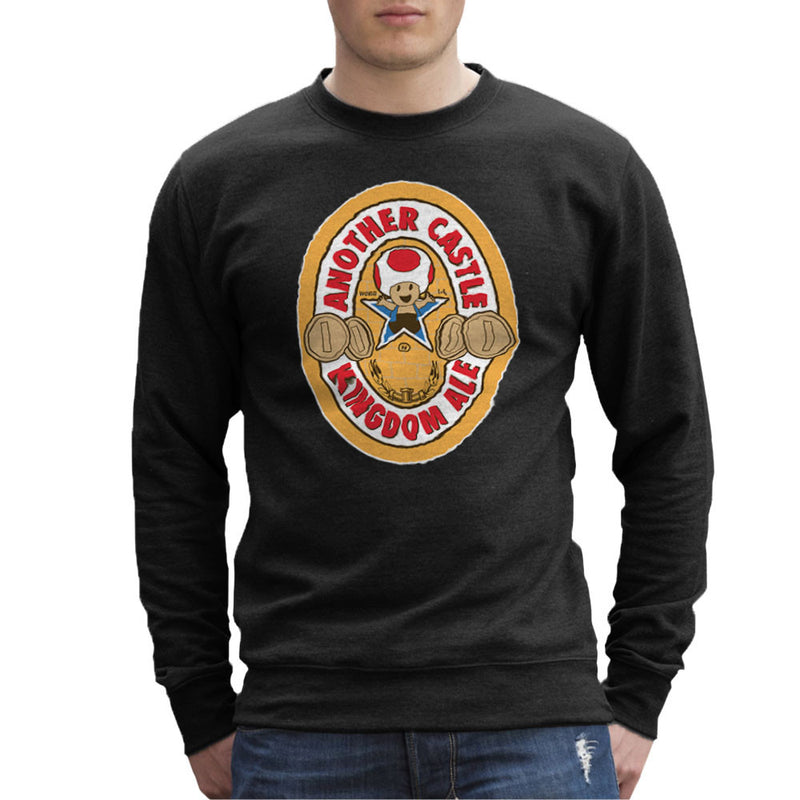 Another Castle Kingdom Ale Newcastle Brown Mario Toad Men's Sweatshirt by Bryan SilverBaX - Cloud City 7