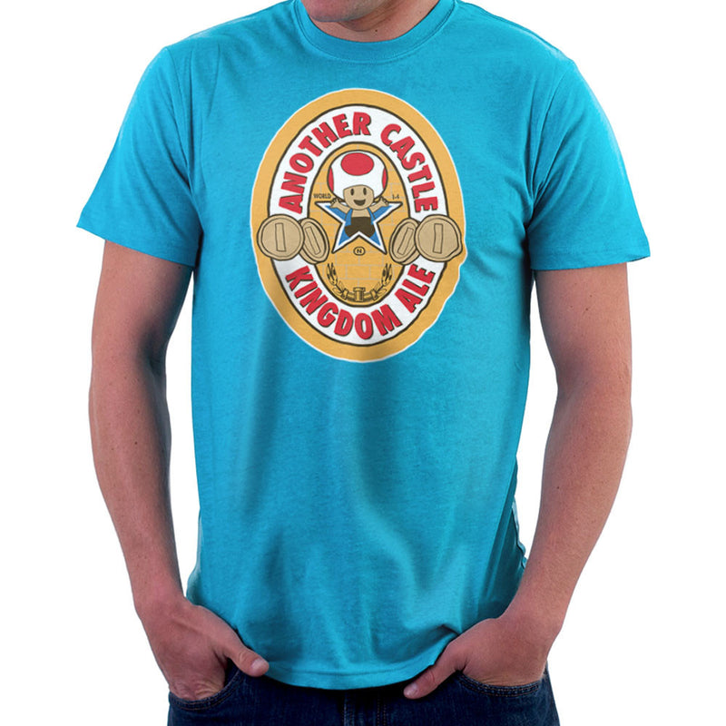 Another Castle Kingdom Ale Newcastle Brown Mario Toad Men's T-Shirt by Bryan SilverBaX - Cloud City 7