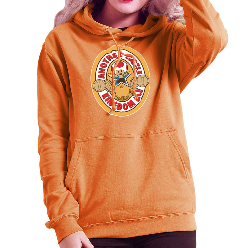 Another Castle Kingdom Ale Newcastle Brown Mario Toad Women's Hooded Sweatshirt by Bryan SilverBaX - Cloud City 7