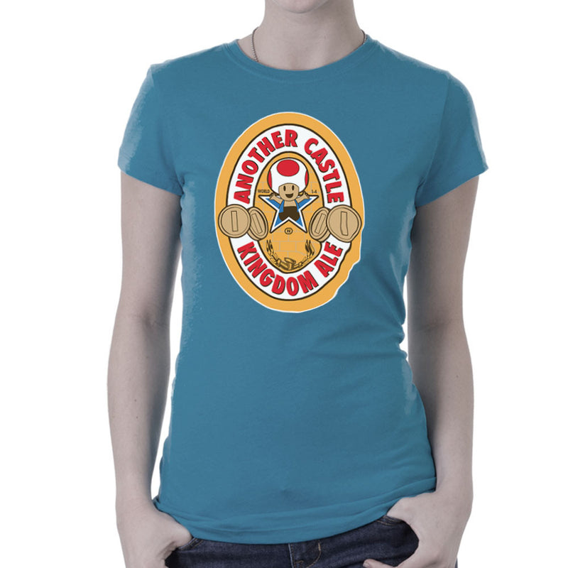 Another Castle Kingdom Ale Newcastle Brown Mario Toad Women's T-Shirt by Bryan SilverBaX - Cloud City 7