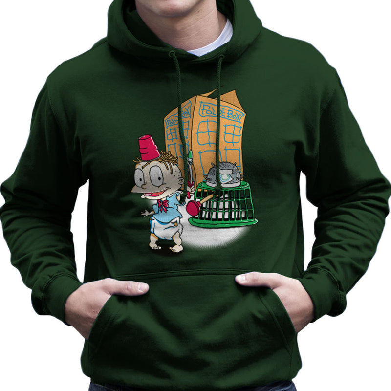 Rugrats Tommy Who Tardis Men's Hooded Sweatshirt Men's Hooded Sweatshirt Cloud City 7 - 13