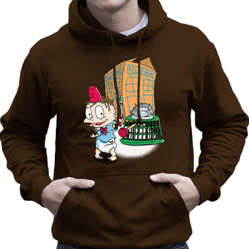 Rugrats Tommy Who Tardis Men's Hooded Sweatshirt Men's Hooded Sweatshirt Cloud City 7 - 12