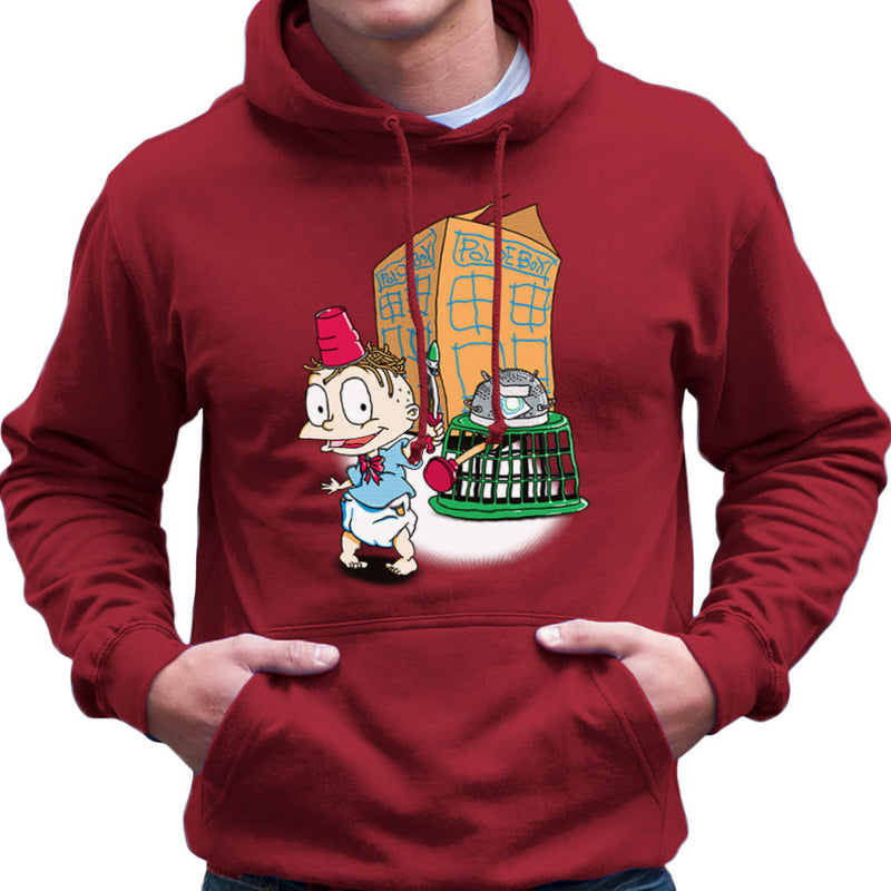 Rugrats Tommy Who Tardis Men's Hooded Sweatshirt Men's Hooded Sweatshirt Cloud City 7 - 15