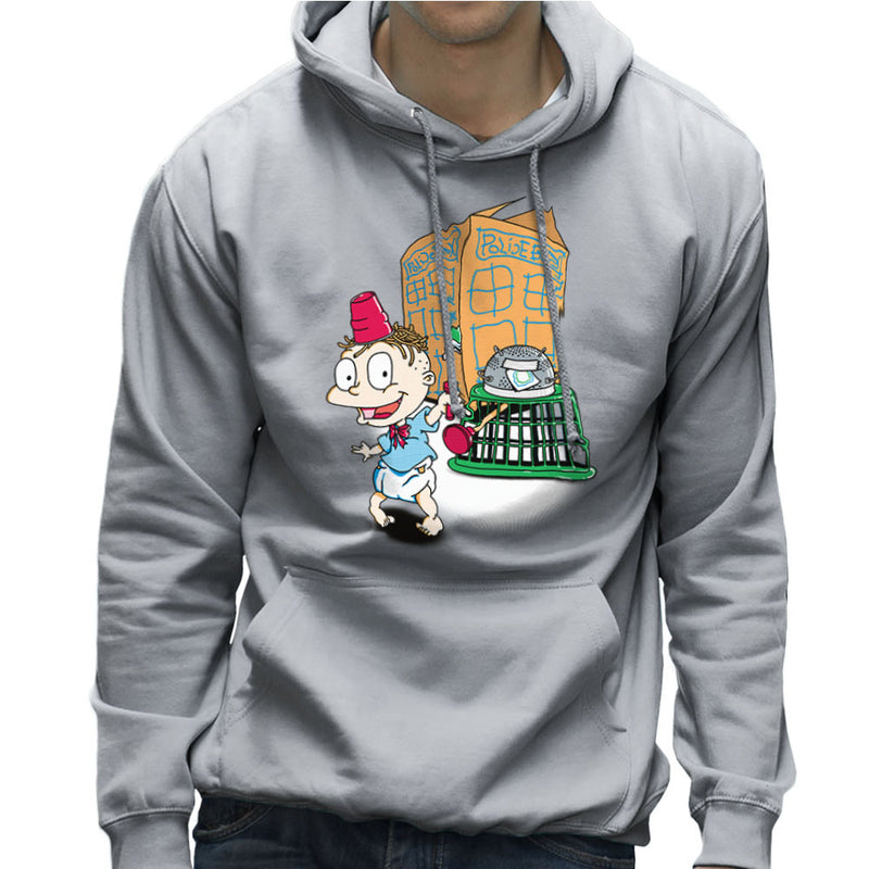 Rugrats Tommy Who Tardis Men's Hooded Sweatshirt Men's Hooded Sweatshirt Cloud City 7 - 5