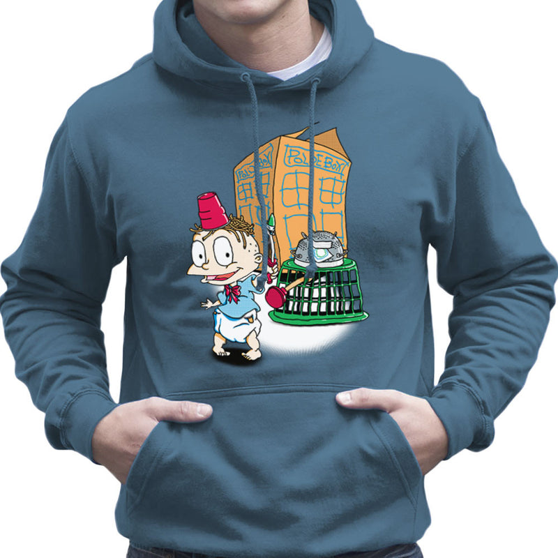 Rugrats Tommy Who Tardis Men's Hooded Sweatshirt Men's Hooded Sweatshirt Cloud City 7 - 9