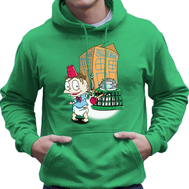 Rugrats Tommy Who Tardis Men's Hooded Sweatshirt Men's Hooded Sweatshirt Cloud City 7 - 14