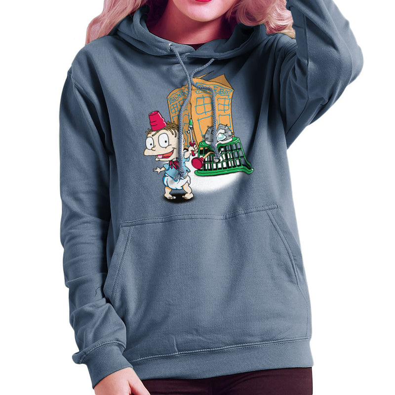 Rugrats Tommy Who Tardis Women's Hooded Sweatshirt Women's Hooded Sweatshirt Cloud City 7 - 9