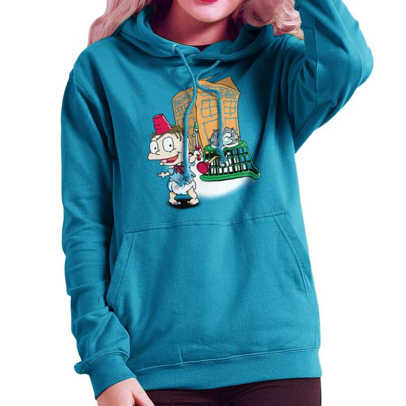 Rugrats Tommy Who Tardis Women's Hooded Sweatshirt Women's Hooded Sweatshirt Cloud City 7 - 10