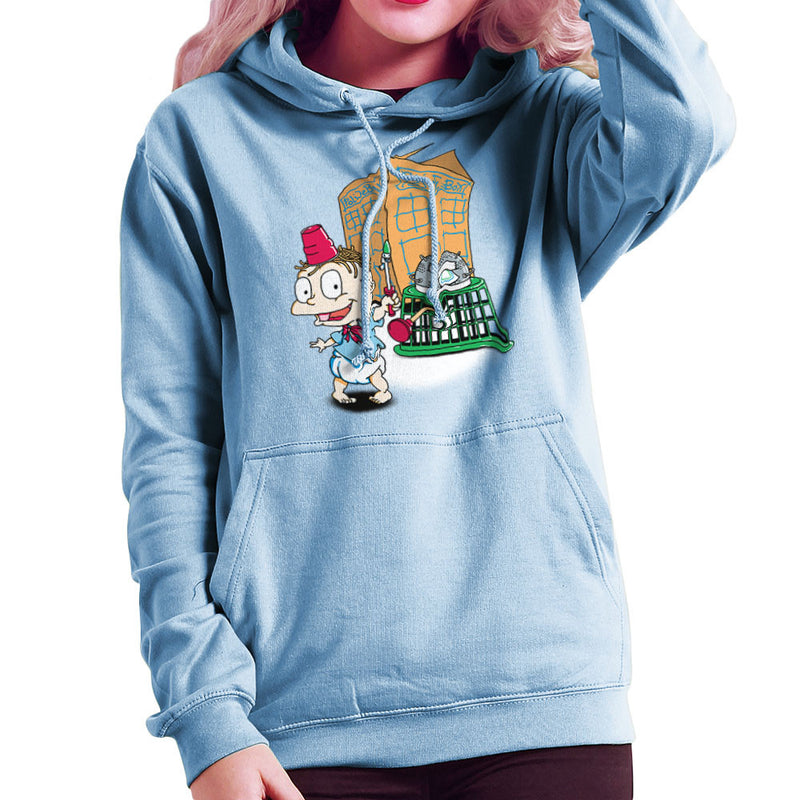 Rugrats Tommy Who Tardis Women's Hooded Sweatshirt Women's Hooded Sweatshirt Cloud City 7 - 11