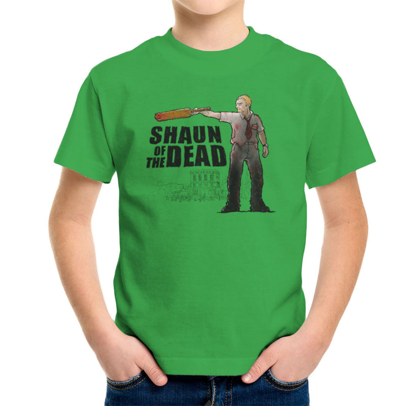 Shaun of the Walking Dead Kid's T-Shirt by Bleee - Cloud City 7