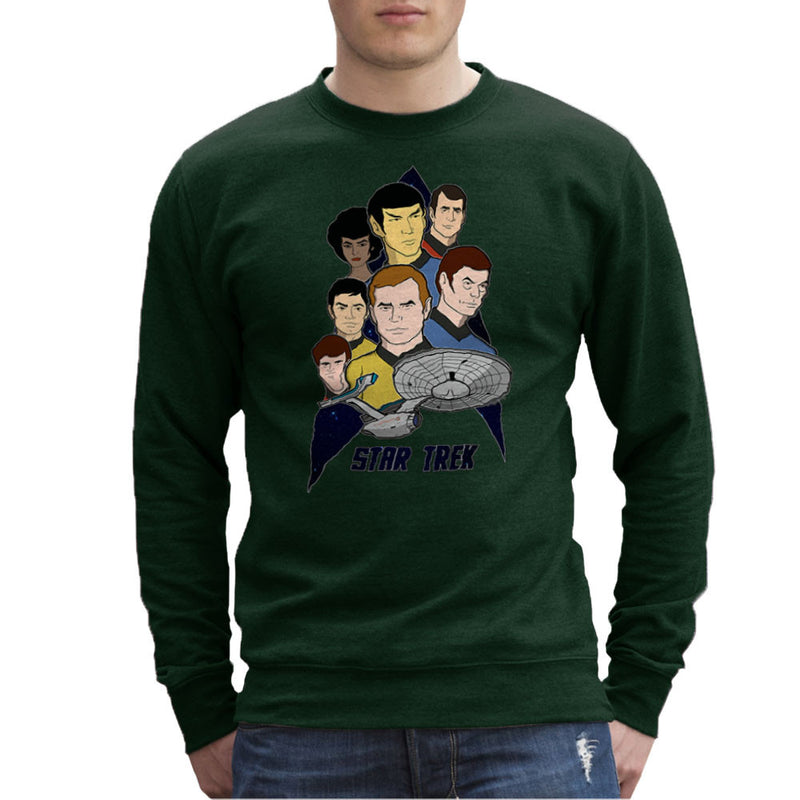 Star Trek the Animated Series Captain Kirk Spok Men's Sweatshirt by DeMilburn - Cloud City 7
