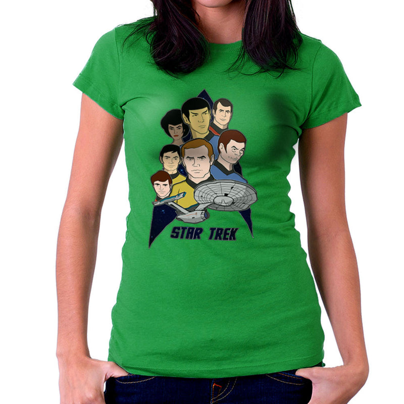 Star Trek the Animated Series Captain Kirk Spok Women's T-Shirt by DeMilburn - Cloud City 7