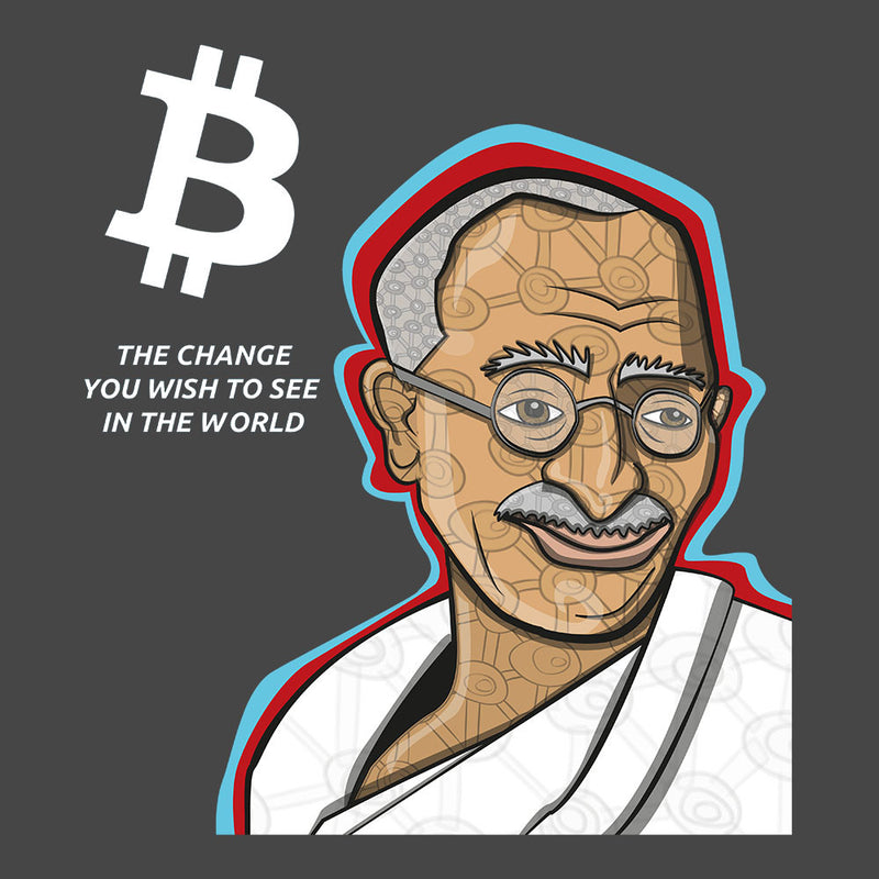 B the Change Gandhi Bitcoin Kid's T-Shirt Kid's Boy's T-Shirt Cloud City 7 - 3