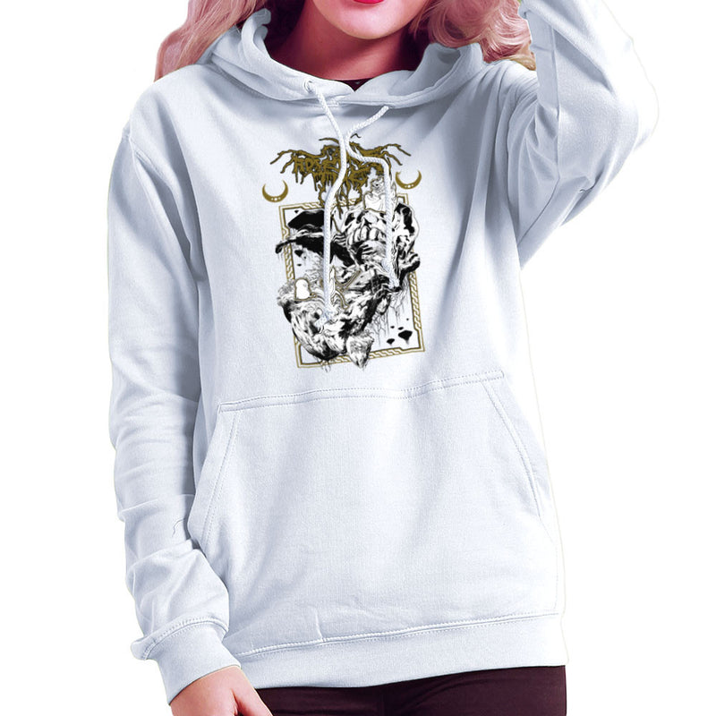 Adventure Time Dungeons and Dark Thrones Finn Jake the Lich Women's Hooded Sweatshirt by Derek Restivo - Cloud City 7