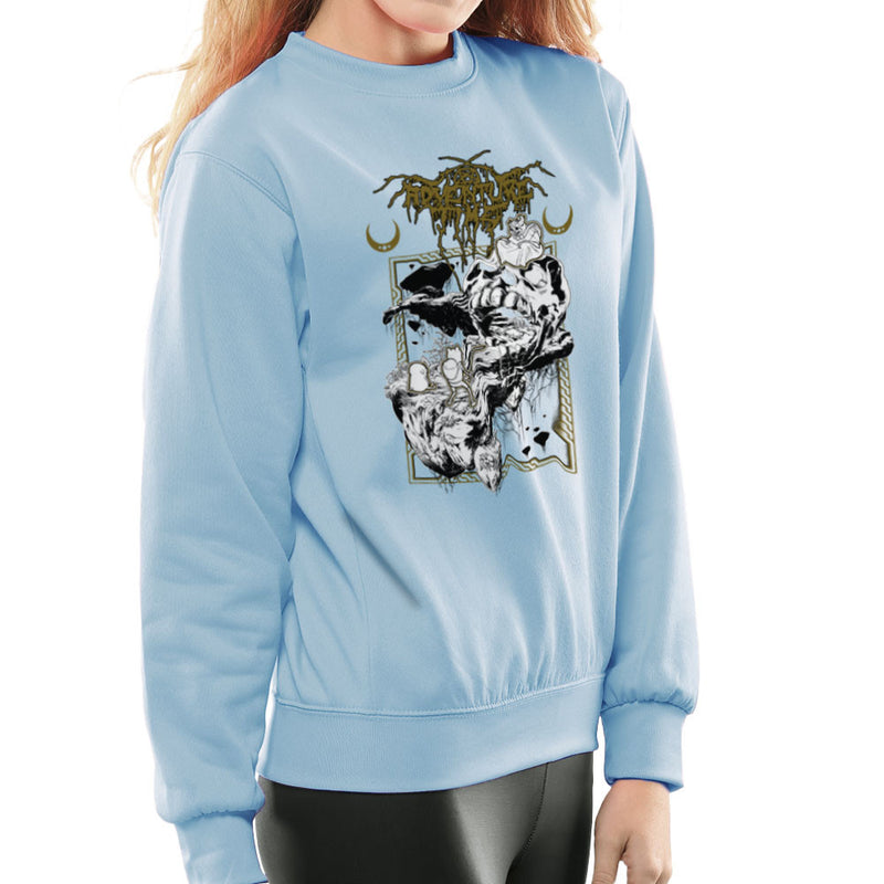 Adventure Time Dungeons and Dark Thrones Finn Jake the Lich Women's Sweatshirt by Derek Restivo - Cloud City 7