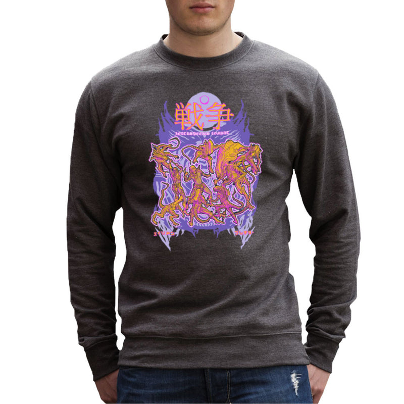 Interspecies Combat Alien Vs Predator Men's Sweatshirt by Derek Restivo - Cloud City 7