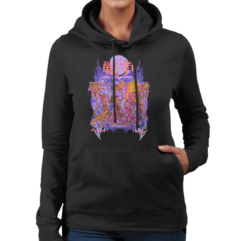 Interspecies Combat Alien Vs Predator Women's Hooded Sweatshirt by Derek Restivo - Cloud City 7