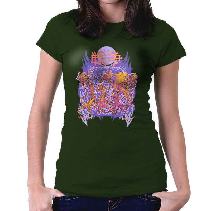 Interspecies Combat Alien Vs Predator Women's T-Shirt by Derek Restivo - Cloud City 7