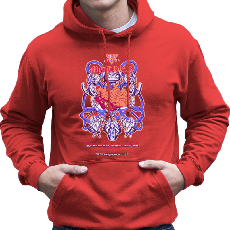 Mother Bio Machanical Super Computer Brain Men's Hooded Sweatshirt by Derek Restivo - Cloud City 7