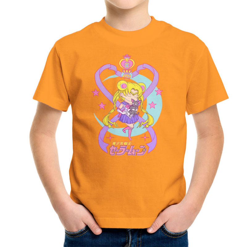 Sailor Moon and Luna Kid's T-Shirt by Derek Restivo - Cloud City 7