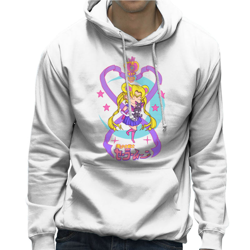 Sailor Moon and Luna Men's Hooded Sweatshirt by Derek Restivo - Cloud City 7