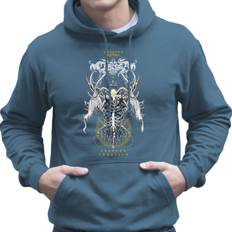 The Yellow King Carcosa True Detective Devil Net Men's Hooded Sweatshirt by Derek Restivo - Cloud City 7