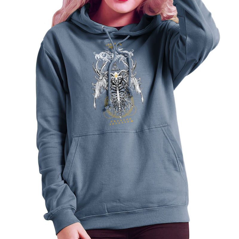 The Yellow King Carcosa True Detective Devil Net Women's Hooded Sweatshirt Women's Hooded Sweatshirt Cloud City 7 - 9