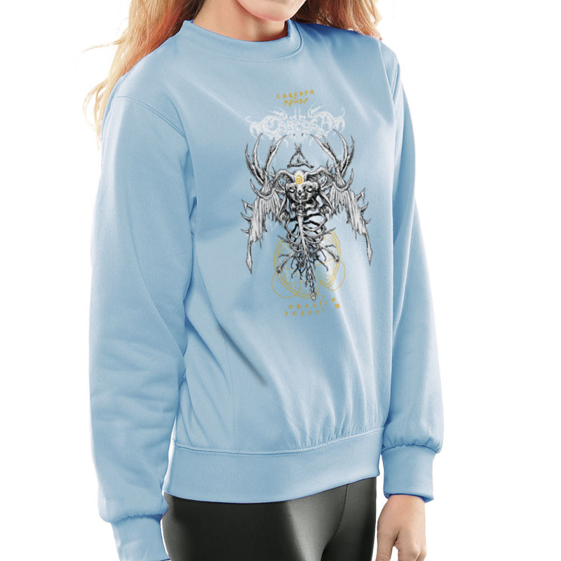 The Yellow King Carcosa True Detective Devil Net Women's Sweatshirt by Derek Restivo - Cloud City 7