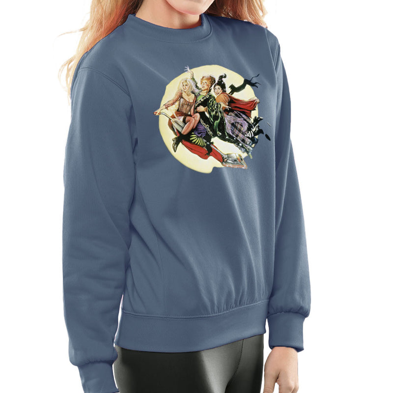 Hocus Pocus Winnifred Sarah Mary Witches Women's Sweatshirt by Hilarious Delusions - Cloud City 7
