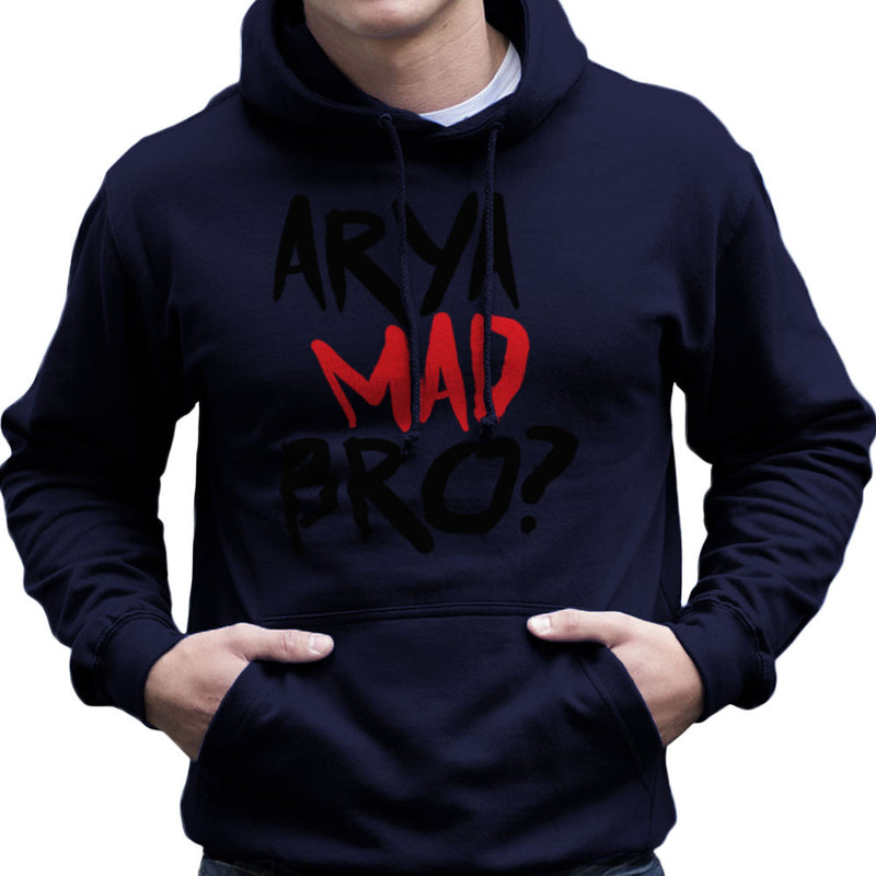 Game of Thrones Arya Mad Bro? Stark Graffiti Men's Hooded Sweatshirt by Hilarious Delusions - Cloud City 7