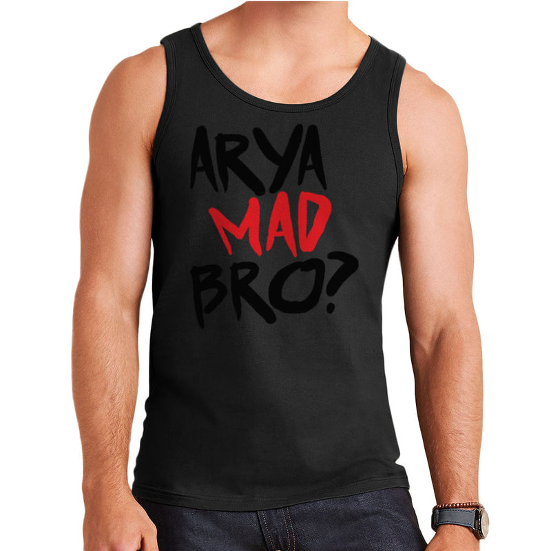 Game of Thrones Arya Mad Bro? Stark Graffiti  Men's Vest Men's Vest Cloud City 7 - 2