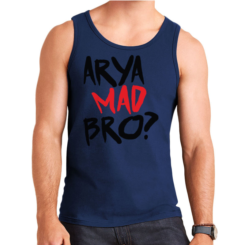 Game of Thrones Arya Mad Bro? Stark Graffiti  Men's Vest Men's Vest Cloud City 7 - 6