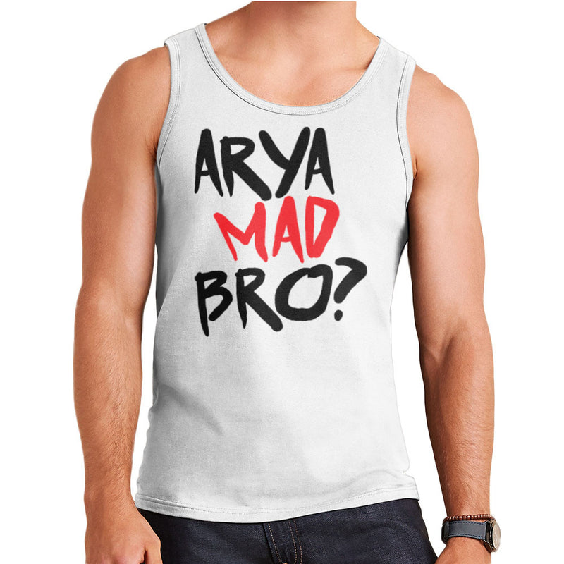 Game of Thrones Arya Mad Bro? Stark Graffiti  Men's Vest Men's Vest Cloud City 7 - 1